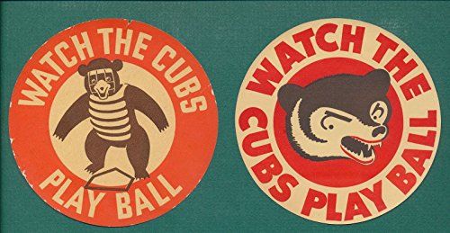 Original 1939 and 1941 Chicago Cubs Baseball Schedules Watch the Cubs Play Ball