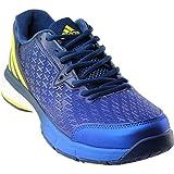 adidas Men's Energy Volley Boost 2.0 Volleyball Shoe, Mystery Blue/Lemon Peel/Satellite, 7.5 M US