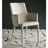 Safavieh Home Collection Summerset Linen Beige Arm Chair, Grey