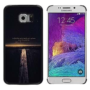 ROKK CASES / Samsung Galaxy S6 EDGE SM-G925 / PAIN LEADS US TO ACHIEVE - LIFE WISDOM / Delgado Negro Plástico caso cubierta Shell Armor Funda Case Cover