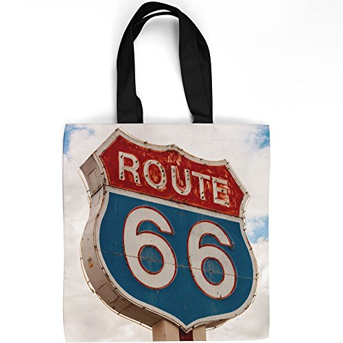 Westlake Art - 66 Route - Tote Bag - Picture Photography Shopping Gym Work - 16x16 Inch ()