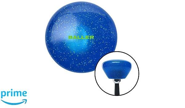 American Shifter 143145 Blue Metal Flake Shift Knob with M16 x 1.5 Insert 8 Ball