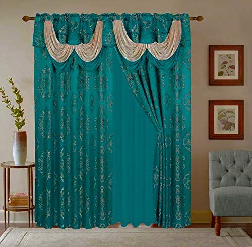 LinenTopia Classical Jacquard Window Drape Set