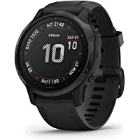 Garmin Fenix 6S Pro Premium Multisport GPS Watch with Heart Rate Monitor (Black)
