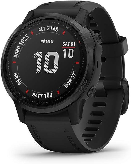 Garmin fēnix 6S Pro - Reloj GPS multideporte con mapas, música, frecuencia cardíaca y sensores, Negro con correa negra: Amazon.es: Deportes y aire libre