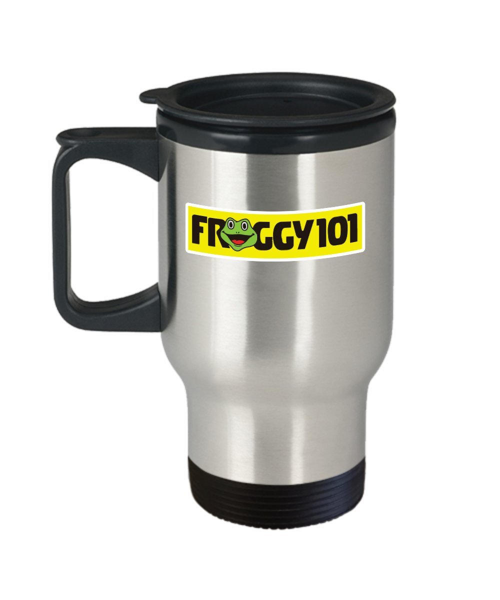 Froggy 101 the office coffee mug cup travel 16oz the office tv show dwight schrute gifts merchandise accessories shirt sticker pin decal artwork dec