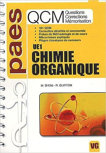 Livre gratuits en ligne QCM UE1 Chimie organique epub, pdf
