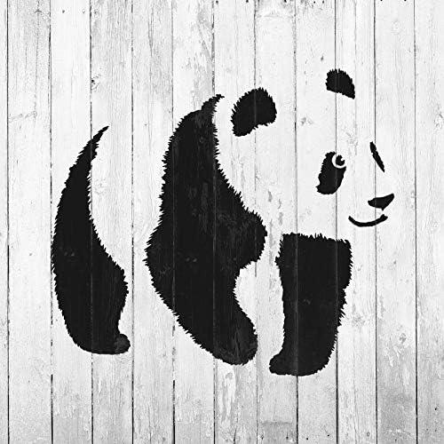 Oso Panda Jungla Animal Mylar Aerógrafo Pintura Pared Arte Manualidades Plantilla dos