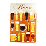 beer wall vinyl - 12x8 Inches Pub,bar,home Wall Decor Souvenir Hanging Metal Tin Sign Plate Plaque (Beer)