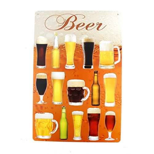 12x8 Inches Pub,bar,home Wall Decor Souvenir Hanging Metal Tin Sign Plate Plaque (Beer)