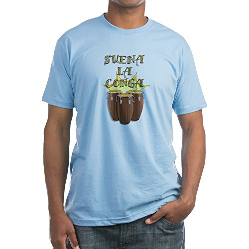 CafePress - Suena La Conga - Fitted T-Shirt, Vintage Fit Soft Cotton Tee Baby Blue