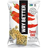 Way Better Snacks Sprouted Gluten Free Tortilla Chips, So Sweet Chili, 1 Ounce (Pack of 12)