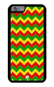 iZERCASE iPhone 6 PLUS Case Chevron Rastafari Reggae Colors RUBBER CASE - Fits iPhone 6 PLUS T-Mobile, Verizon, AT&T, Sprint and International