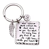 Melix Home Pet Memorial Keychain, Family Loss Dog Cat Pet Jewelry