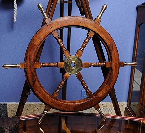 Wood Hub (Boat Ships Steering Wheel Nautical Wall Decor 30