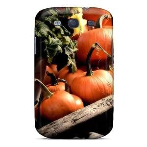 XiFu*MeiHot HTjjbFa2701DqoSM Pumpkins Cart Tpu Case Cover Compatible With Galaxy S3XiFu*Mei