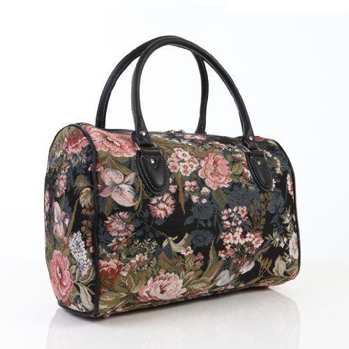Ladies-travel-bagweekend-baggym-bagcabin-approved-hand-luggage-Peony-Flower