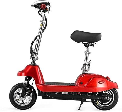 Dpliu-HW Bicicleta Eléctrica Plegable Coche eléctrico Scooter Batería de Litio Batería Coche Bicicleta eléctrica Batería Desmontable (Color : Red, Size : 24V): Amazon.es: Hogar