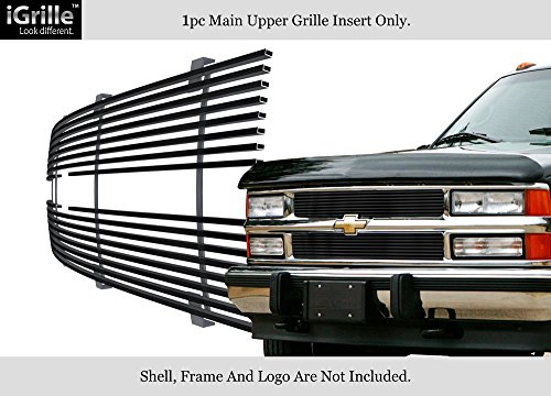 APS for 88-93 Chevy C/K Pickup/Suburban/Blazer Black Stainless Steel Billet Grille #N19-J10058C