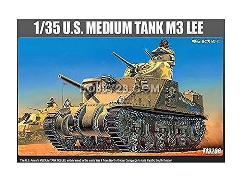 Academy 1/35 U.S Medium Tank M3 Lee Tank Plastic Model Kit #13206 /item# G4W8B-48Q40743 (M3 Lee Tank Model)