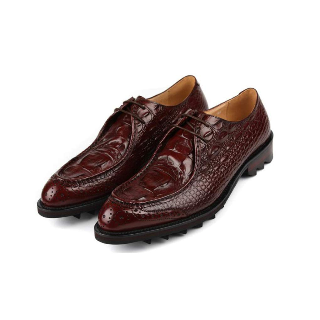 FuweiEncore Herrenmode Leder Formale Schuhe, Schuhe, Schuhe, Business-Spitze Zehenschuhe, Britische Stil Uniform Kleider Schuhe, Hochzeitsschuhe, Casual Party,braun,42 (Farbe   Wie Gezeigt, Größe   Einheitsgröße) b427d3