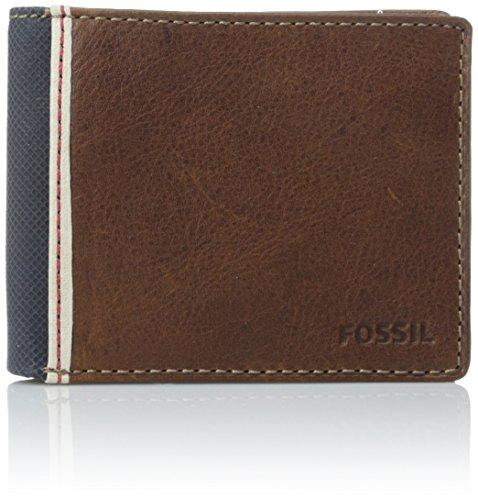 (Fossil Men's Elgin Traveler Wallet, Brown, One Size)