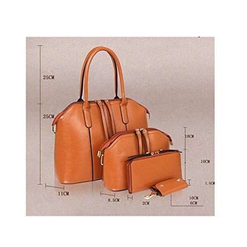 Mujer Set desgastado bolsos Xagoo de mano 4 en 1 sistema puro oficina Bolsa (Estilo 2) Estilo 2