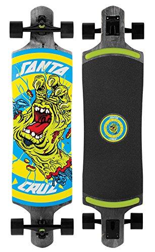 Santa Cruz Skateboards Rob Hand Foot Stop Black Drop Thru Cruzer Skateboard, 10″ x 40″, Multicolor
