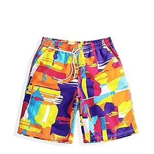 Swim Trunks Beach Short Quick Dry Eye-catching Vivid HD Pattern 3 Pockets and Drawstring