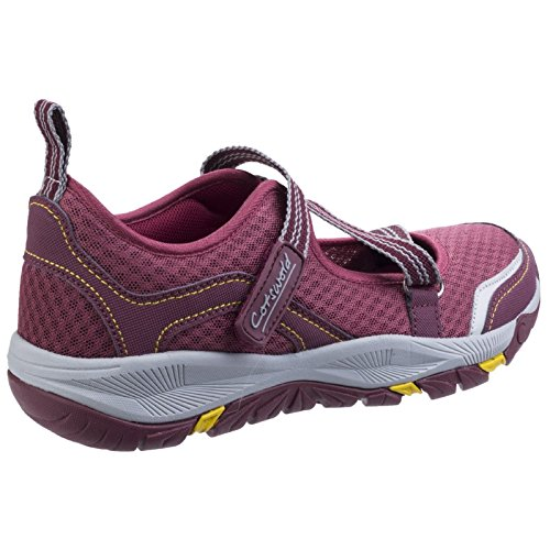 Womens Ladies WINE Hikers Norton Cotswold Lightweight Breathable Shoes FvAqxHd