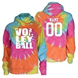 JANT Girl Custom Volleyball Tie Dye Sweatshirt - Stacked Logo
