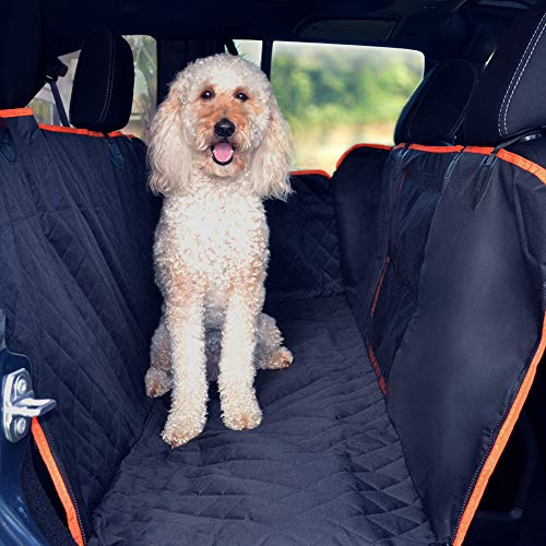 Fur Mafia Waterproof Washable Automotive Pet Seat Cover for Cars Trucks and SUVs with Non Slip Backing