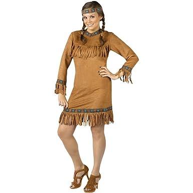 Amazon Com Fun World Women S Native American Indian Costume Brown