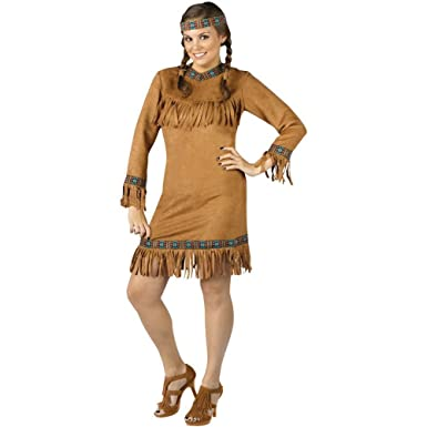 american size Native costume plus
