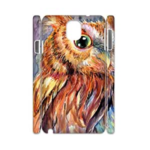 Lovely Owl Customized 3D Phone Case for Samsung Galaxy Note 3 N9000,diy Lovely Owl Cover Case