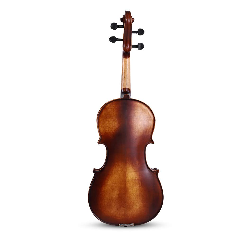 16inch Viola, Handcrafted Spruce Viola Solid Wood Acoustic Viola with Case, Bow, Bridge and Rosin Accessory for Beginners by Zerone (Image #8)