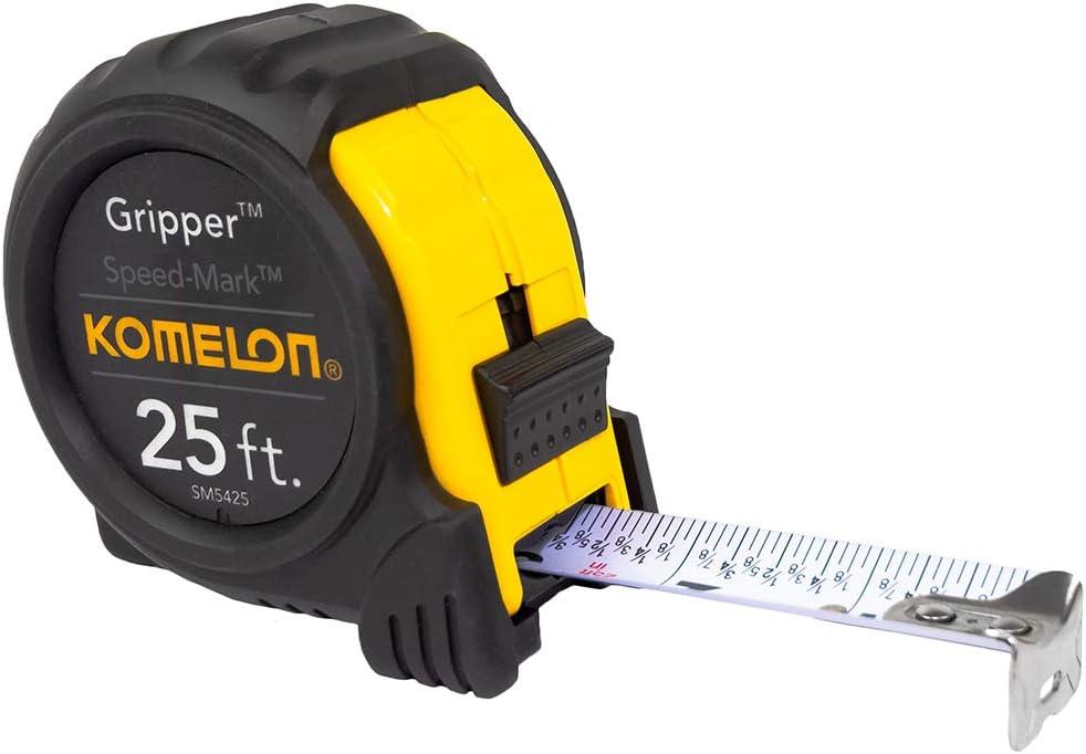 Komelon Speed Mark Gripper Acrylic Coated Steel Blade Measuring Tape