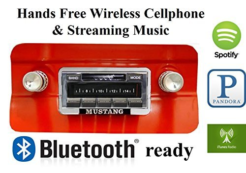 Custom Autosound Stereo + BLUKIT compatible with 1964-1966 Mustang, USA-630 II Bluetooth Enabled High Power 300 watt AM FM Car Stereo/Radio