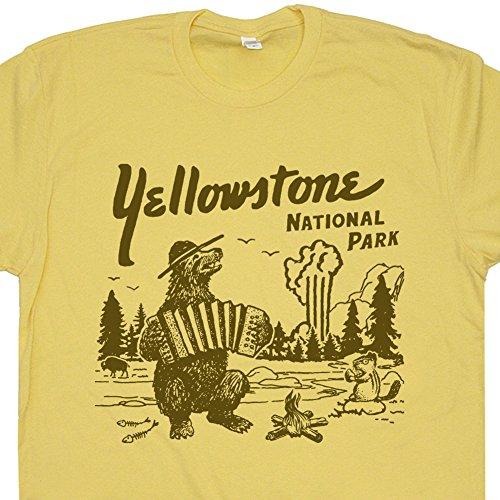f202a76f7f50 XL - Yellowstone National Park T Shirt Wyoming Grand Tetons Tee Vintage Old  Faithful Mens Womens Souvenir Graphic