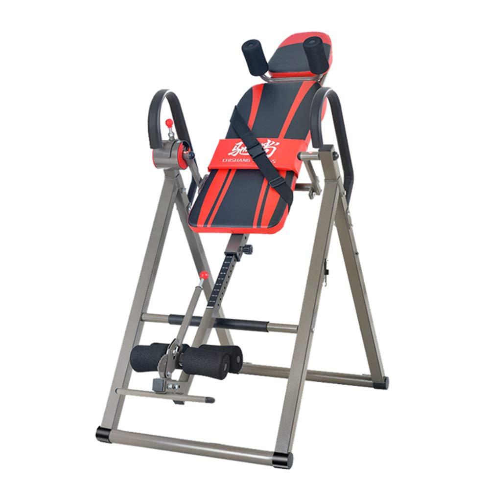 Fitness-Therapie Inversion Table Adjustable Faltbare Tabelle eingebaute Roller Wheels Reflexologie Orange