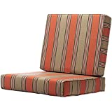 home decorators collection passage poppy sunbrella 25 in x 48 in deep seating box edge outdoor chair cushion - Home Decorators Outdoor Cushions