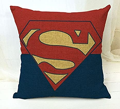 ZonaloDutt Superman Funda de Almohada Super Hero Vector 18 x ...