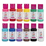 Tulip 1 fl oz 12 Pack Rainbow Fabric Paint, Color