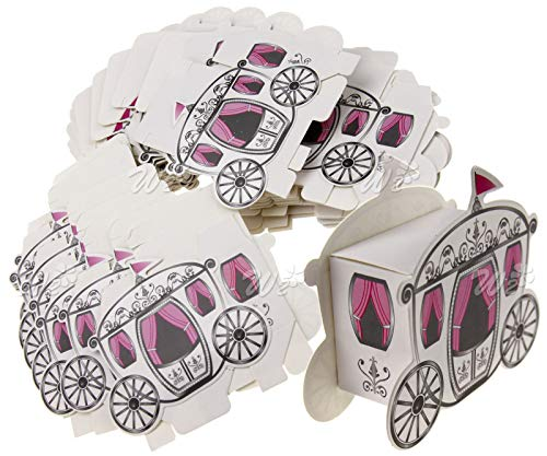 Olwen Shop 50pcs Candy Box Cinderella Fairytale Princess Carriage Wedding Favour Party Gift ()