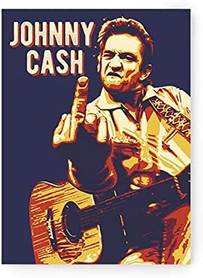 Johnny Cash Stickers Johnny Cash Decal Vinyl Gitar Rock and Roll Star Country Laptop Sticker 3 inch