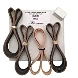 1x30 High Grit & Leather Belt Assorted 15 Pack 600, 800,1000 Grit w/ Compound