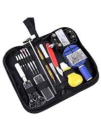 Ohuhu Upgarde Professional 147 Pieces Watch Repair Tool Kit Case Bonus a Hammer