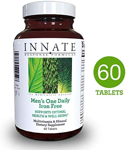 INNATE Response Formulas – Men s One Daily Iron Free, Foundational Multivitamin Formula for Men in One Convenient Tablet, 60 Tablets