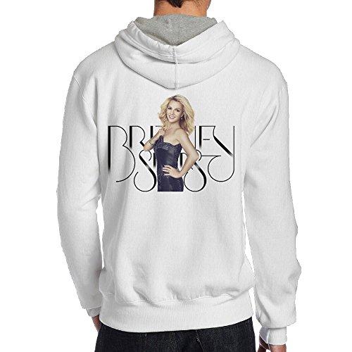 SAMMOI Britney Spears Men's Long Sleeve Hoodie S White