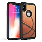 iPhone X Case, True Color Basketball Sports Vaultek Case Printed on Heavy Duty Hybrid Dual Layer Protective Durable Shockproof Rugged Cover